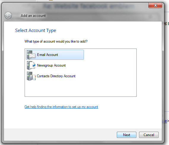 Adding a pop 3 to Windows mail step 3
