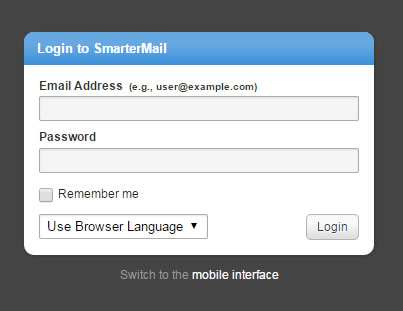 Login to smartermail