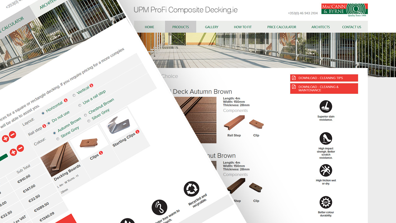 Portfolio: UPM Profi Composite Decking (Mac Cann and Byrne)