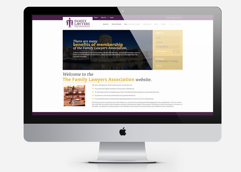 Portfolio: Family Lawyers Association of Ireland