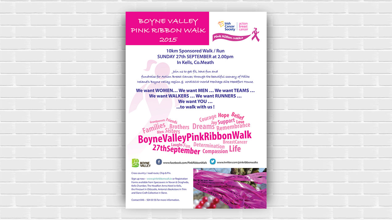 Portfolio: Pink Ribbon Walk